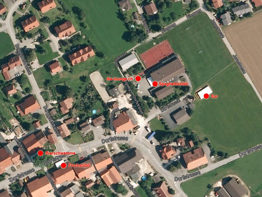 Google Maps mit Chilbi-Zelten