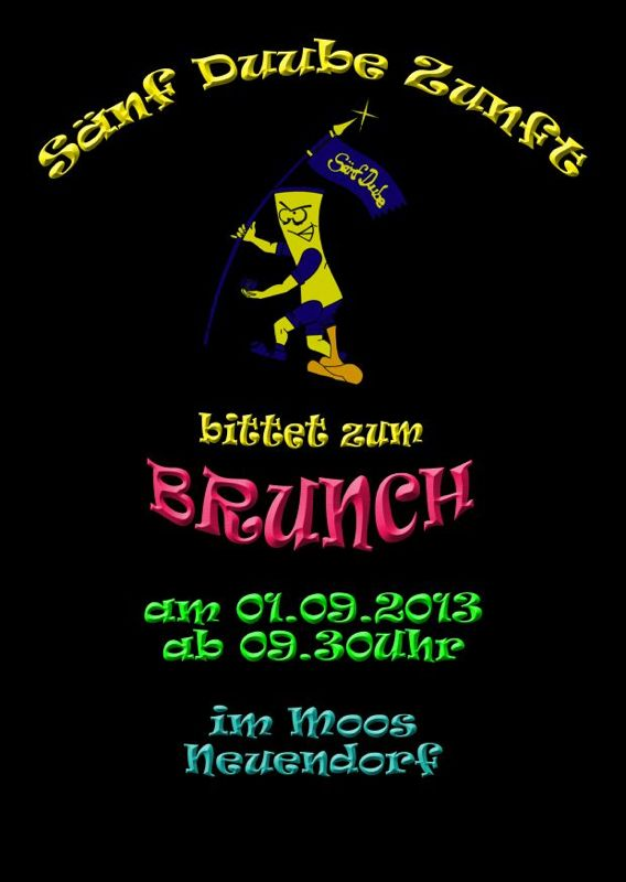 Flyer vom Brunch