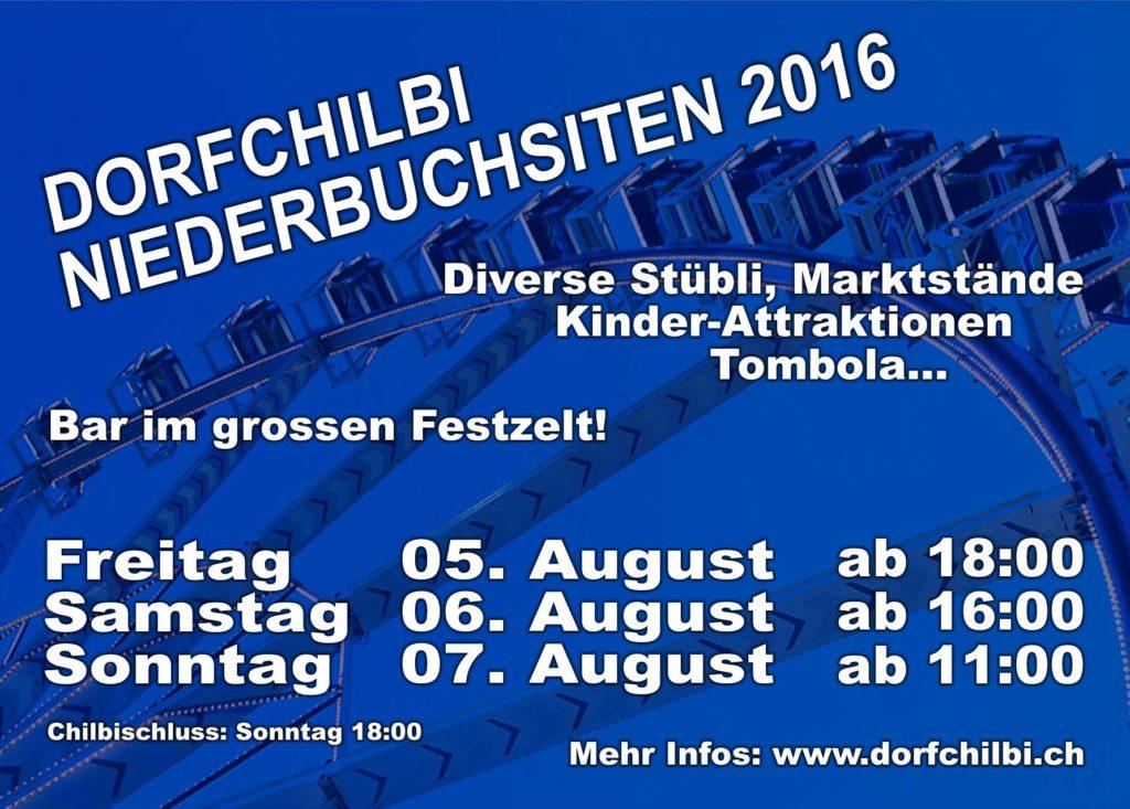 Flyer Dorfchilbi Niederbuchsiten 2016