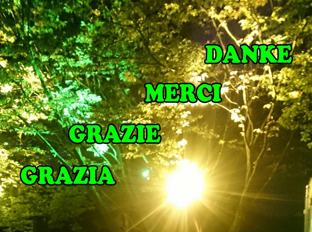 Danke, Merci, Grazie, Grazia